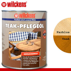 Wilckens 1 l Teak Pflegeöl | 2 Farben zur Auswahl | Farblos Teak