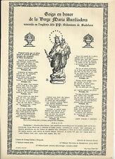 Gozo antiguo Virgen Maria Auxiliadora andachtsbild santino holy card santini