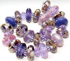 "Sistersbeads ""Purple Passion"" Handmade Lampwork Beads"