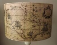 Sea Map Lampshade,light shade, Shabby chic, caribbean,nautical,ships, Free Gift