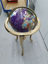 More details for floor standing large globe beautiful and rare precious stones 34