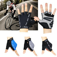 Men Women Sports Racing Cycling MTB Bike Bicycle Gel Half Finger Gloves S/M/L