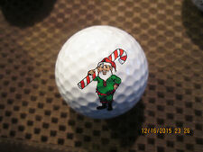 Logo Golf Ball-Santa Christmas Elf Holding Candy Cane.Cute.