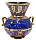 Veronese Bronze Figurine Egyptian Udjat Eye of Horus Vase Gift Home Decor