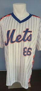 Vintage New York Mets Dunkin' Donuts 20th Anniversary 86 World Series Jersey XL