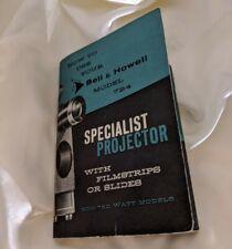 Vintage - Original Bell & Howell 784 Projector Manual, FAST / FREE Shipping! VTG