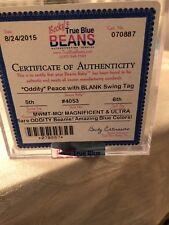 beanie babies Peace Oddity Blank Swing Tag