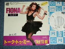 """FIONA Japan 1985 White Label PROMO 7""""45 TALK TO ME"""