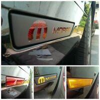 2008-2014 Challenger Front & Rear Side Marker vinyl overlays With MOPAR Cut Out