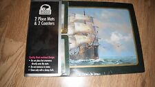 BNIP Sailing Ship Place Mat & Coaster Set