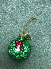 Thomas Pacconi Advent Calendar Replacement Glass Ornament Day #21 Wreath