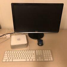 mac mini (late 2009) 250gb, 8g ram, 2.53ghz 2 duo, w/screen, keyboard and mouse