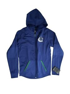 Vancouver Canucks Full Zip Jacket 【 Small】Fanatics  Authentic Pro NHL  Hoodie