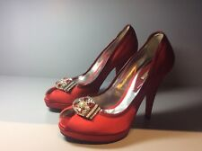 Woman's Mario Bologna red satin shoes, size 39