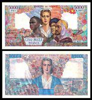 "FRANCE 5000 Francs 1946 ""Belin Rousseau & Favre-Gilly"" P-103c  XF"