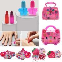 Kids Girls Makeup Set Children Cosmetic Pretend Play Kit Princess Toy 88iI