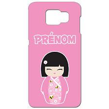 Coque 3 D Téléphone Personnalisée - SAMSUNG S6 -  Kokeshi poupée japonaise rose