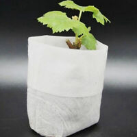 100 Pcs Faltbare Pflanzbeutel 8x10cm Pflanztaschen Anzuchttöpfe Balkon Pflanze