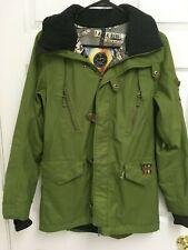 dc9b890bfc1 B by BURTON Women Dry Ride Snowboard Ski Waterproof Olive Green Jacket Coat  S