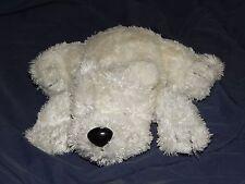 "7"" White MOTHERCARE Polar Bear / Puppy Dog Plush Doll Stuffed Animal"
