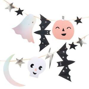 MERI MERI HALLOWEEN Giant Pastel Halloween Garland 8'