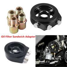 Aluminum Oil Filter Temp Pressure Cooler Gauge Sandwich Plate Adapter Sensor Kit