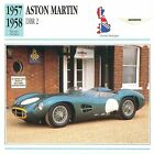 Aston Martin DBR2 Course 1957-1958 GB/UK CAR VOITURE CARTE CARD FICHE