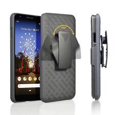 For Google Pixel Phone Models Slim Holster Shell Combo Case Kickstand Belt Clip