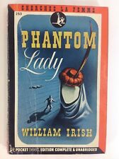 William Irish Cornell Woolrich PHANTOM LADY Pocket 1944 Pulp Mystery - 1st Pr