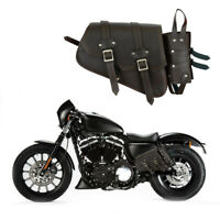 New Motorbike Motorcycle Leather Saddle Bag Pannier Waterproof For UK Bikers
