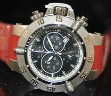 Invicta Men's Rare 5511 Subaqua Swiss Black Dial Red Polyurethane Watch 5511
