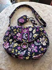 VERA BRADLEY Tote Crossbody Bag  NIGHTINGALE Navy Purple BIRDS+Chance Purse