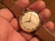 Beautiful Vtg Certina 17 Jewel Rolled Gold Plate 20 Micron Men's Watch Cal. 414
