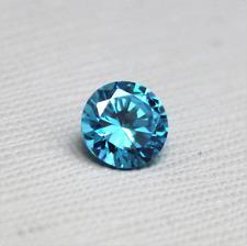 Unheated 4.55ct 9mm Sea Blue Sapphire Round Shape AAAAA VVS Loose Gemstones