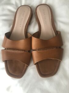 Mint Velvet Tan Leather Sandals Gorgeous  6