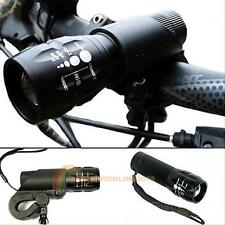 240 lu Cree Q5 Cycling Bicycle Bike LED Front Head Light Torch Lamp LARM + Mount