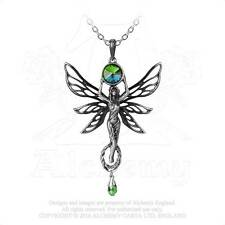 Alchemy - The Green Goddess - Pewter and Crystal Pendant