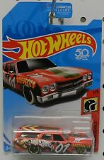 1 1970 70 CHEVY CHEVELLE SS WAGON DAREDEVILS RED SMASH UP DERBY HW HOT WHEELS