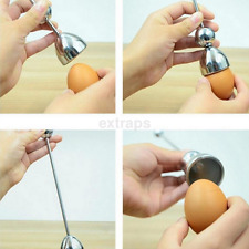 High Quality Kitchen Stainless Steel Boiled Raw Egg Shell Cutter Opener Topper S