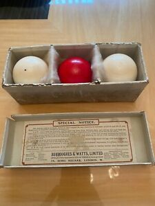 Antique Snooker Billiard Balls Made By Burroughes And Watts