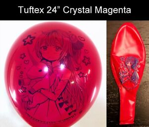 """[AX-06] Cute Anime Girl Printed Looner Balloons in Tuftex 24"""" Multi-color"""