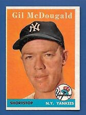1958 Topps # 20 Gil McDougald - New York Yankees  - EX+ - Additional ship free