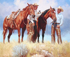 """Braggin' on Their Horses"" Wayne Baize Limited Edition Giclee Canvas"