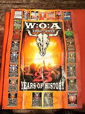 W:O:A 2011 WACKEN OPEN AIR RIESIGES POSTER mit historischen Plaketen des WOA