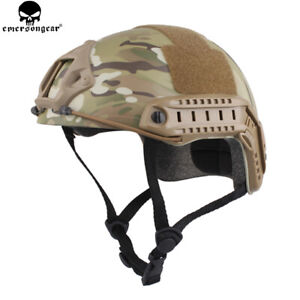 Emerson Tactical Fast Helmet Bump MICH Ballistic MH Type Paintball w/ NVG shroud