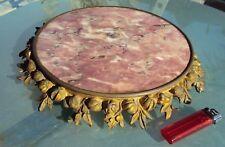 joli dessous de plats en marbre cerclé de bronze 18/19 ème 3k700