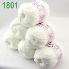 DK Baby Cashmere Silk Wool Crochet Children Hand knit Scarf Yarn 6x50gr Balls 01