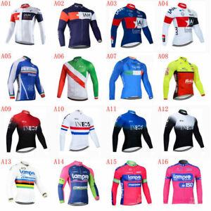 Men Team Cycling Long Sleeve Jersey Bike shirt Bicycle tops Racing Clothing A40