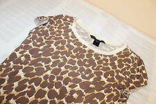 MARC BY MARC JACOBS Leopard Print Knit Top Size S 100% Cotton