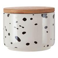 Speckled Small Storage Canister Kitchen Dolomite Food Tea Coffee Sugar Jar Tins